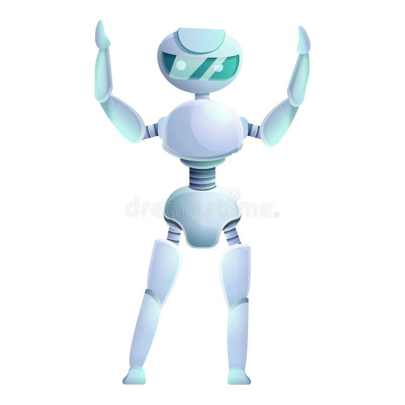 Icono Humanoid, estilo de la historieta ilustración del vector
