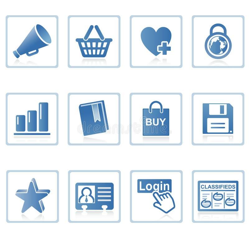 Icono I del Internet y del Web site libre illustration