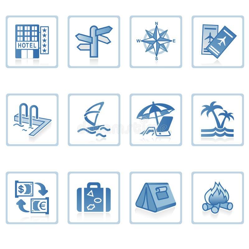 Icono I del recorrido y de las vacaciones ilustración del vector