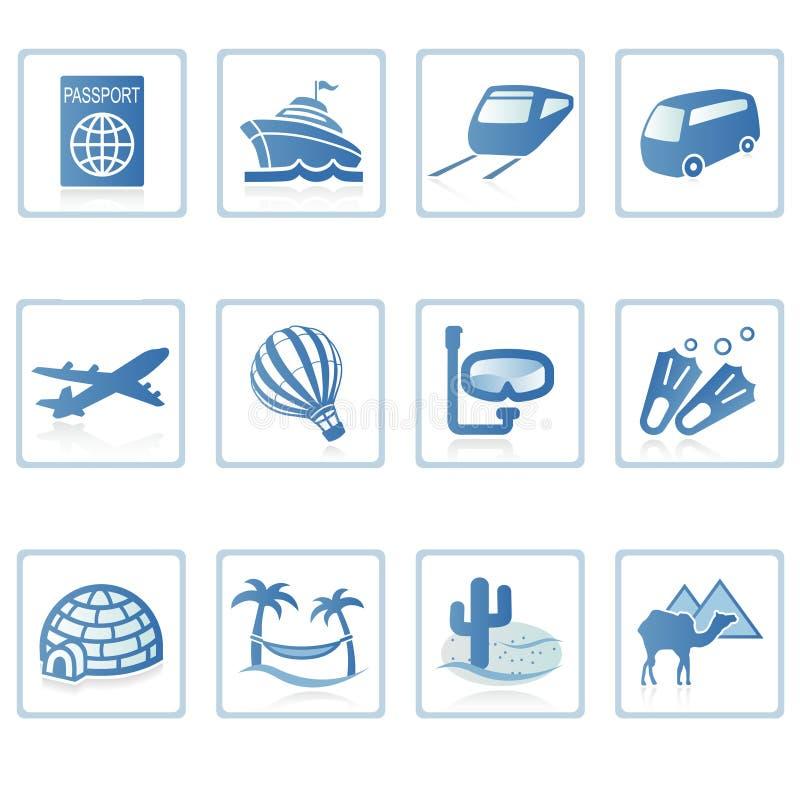 Icono II del recorrido y de las vacaciones stock de ilustración