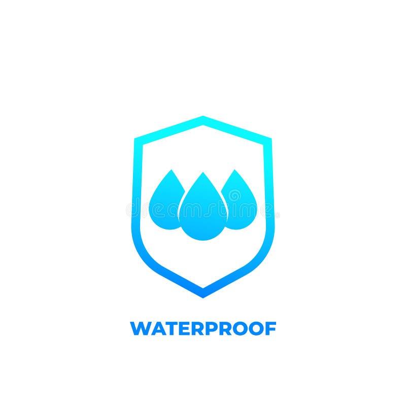 Icono impermeable, vector resistente de agua stock de ilustración