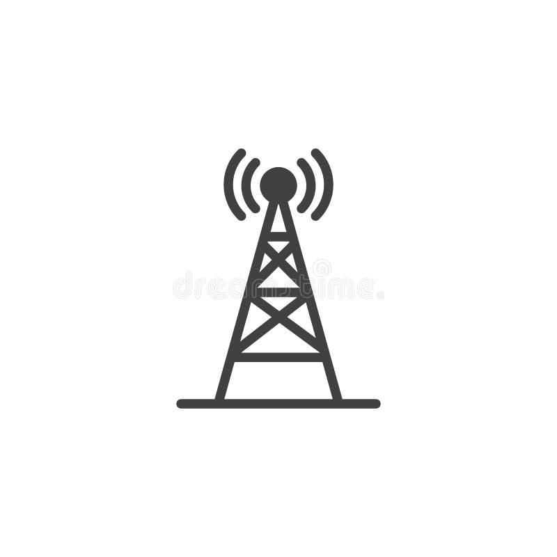 Icono inalámbrico del vector de la antena de radio libre illustration