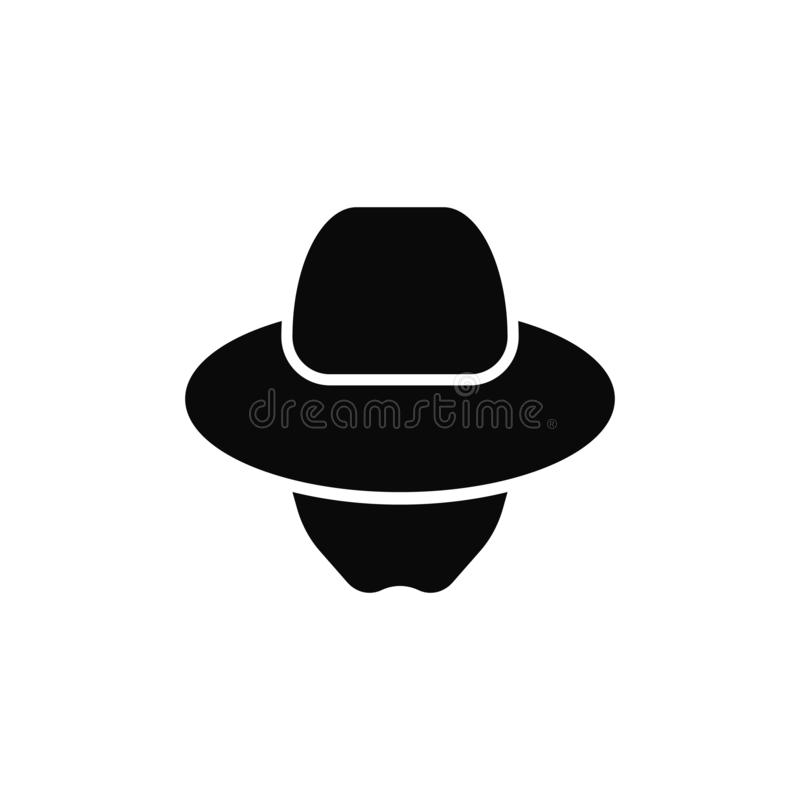 Icono incógnito del agente Logotipo del espía libre illustration