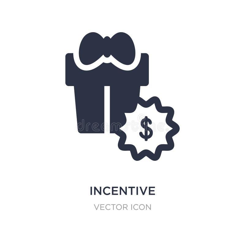 icono incentivo en el fondo blanco Ejemplo simple del elemento del concepto de UI ilustración del vector