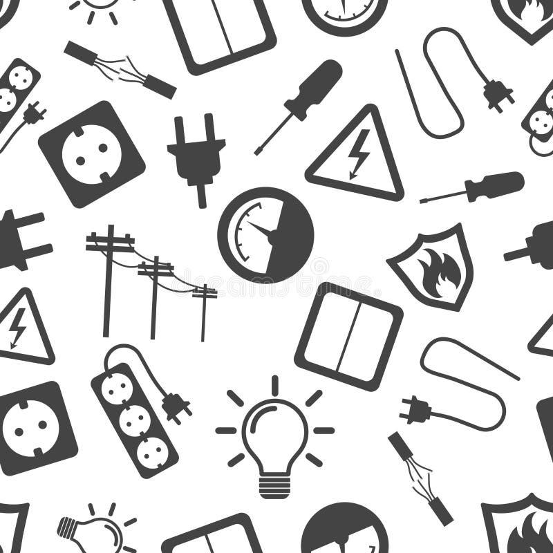 Icono inconsútil del fondo del modelo de la electricidad Vect plano del negocio libre illustration
