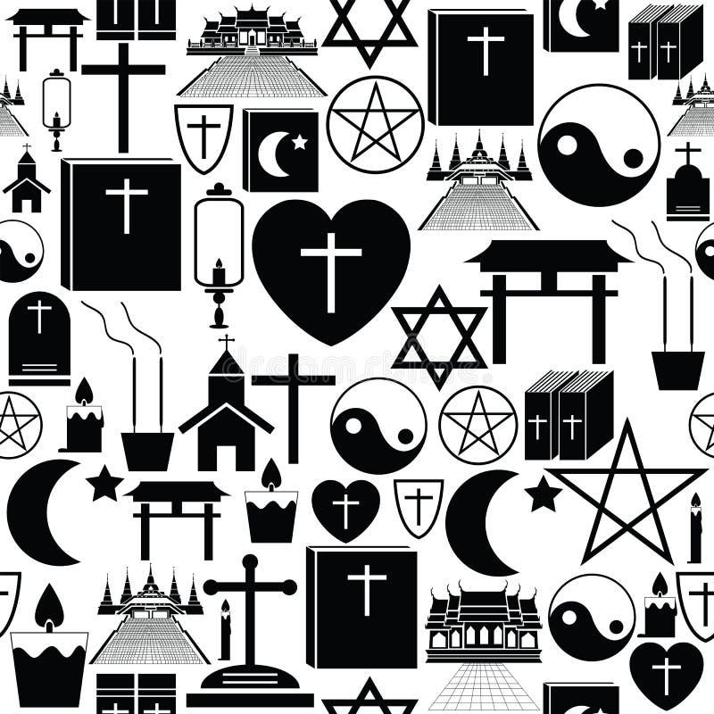 Icono inconsútil del fondo del modelo de la religión libre illustration