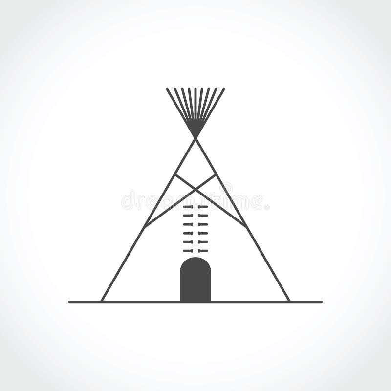 Icono indio americano del tipi ilustración del vector