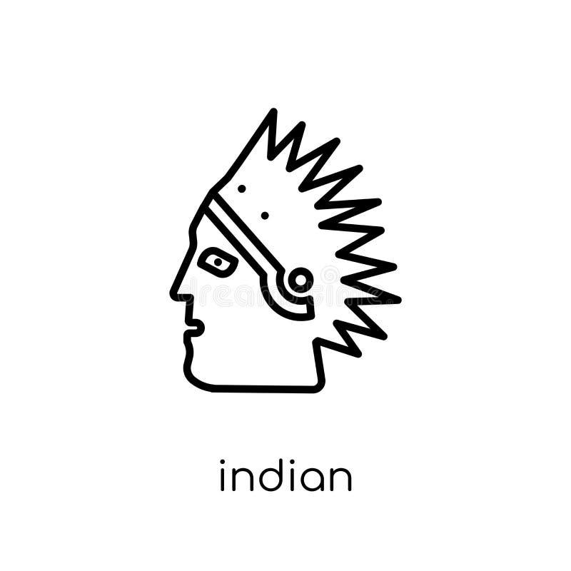Icono indio Icono indio del vector linear plano moderno de moda en whi stock de ilustración