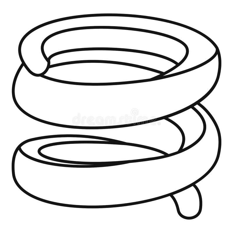 Icono industrial de la primavera, estilo del esquema stock de ilustración