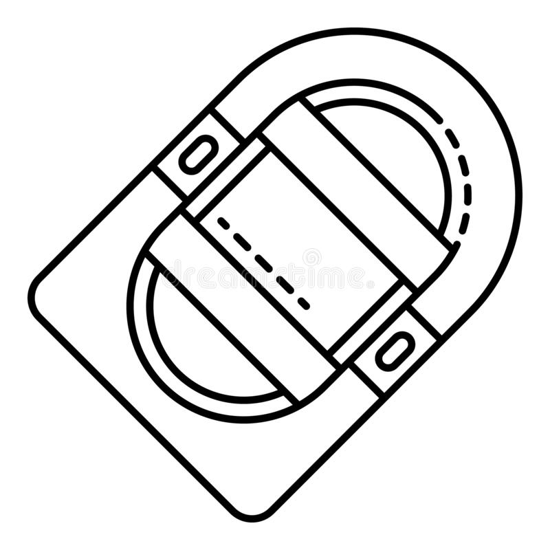 Icono inflable del barco, estilo del esquema stock de ilustración