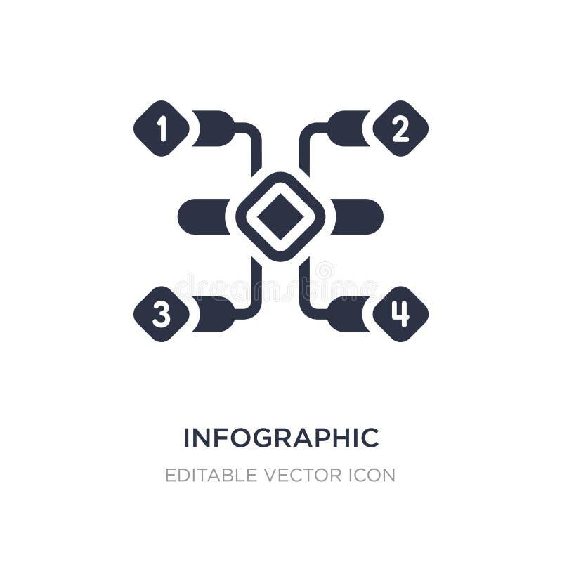 icono infographic de los elementos en el fondo blanco Ejemplo simple del elemento del concepto del negocio stock de ilustración