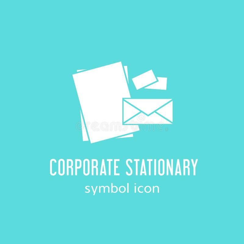 Icono inmóvil corporativo del símbolo del concepto del vector o ilustración del vector