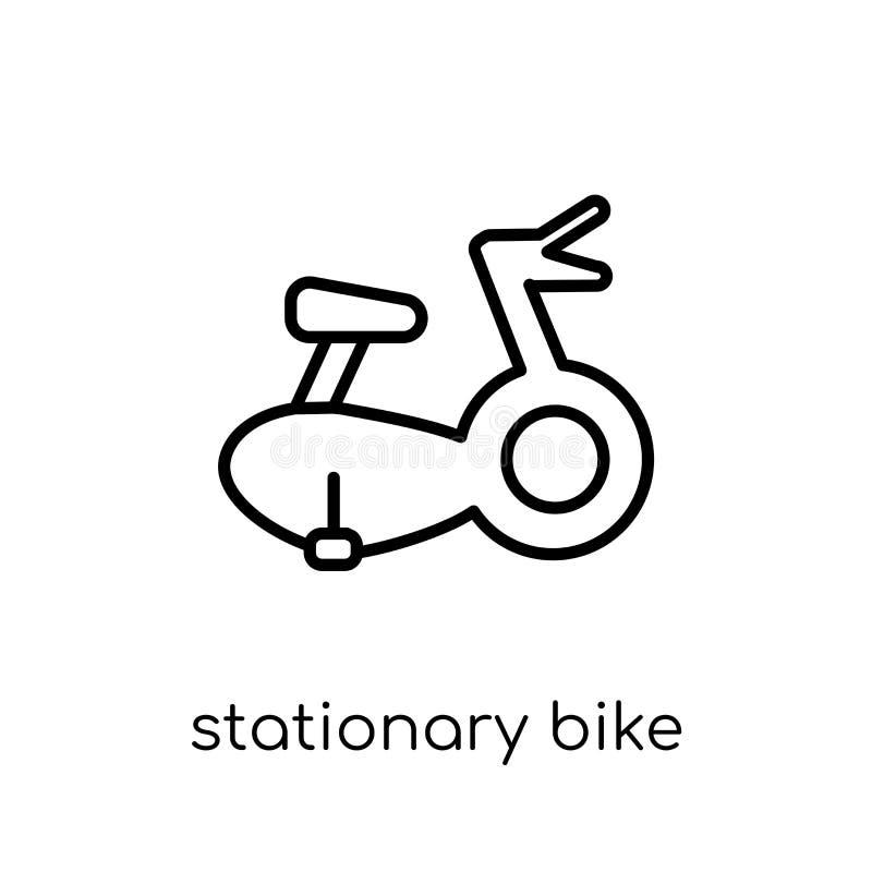 Icono inmóvil de la bici Vector linear plano moderno de moda Stationar ilustración del vector
