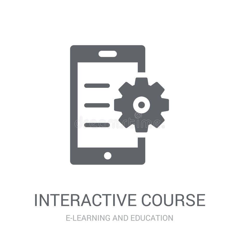 icono interactivo del curso  stock de ilustración