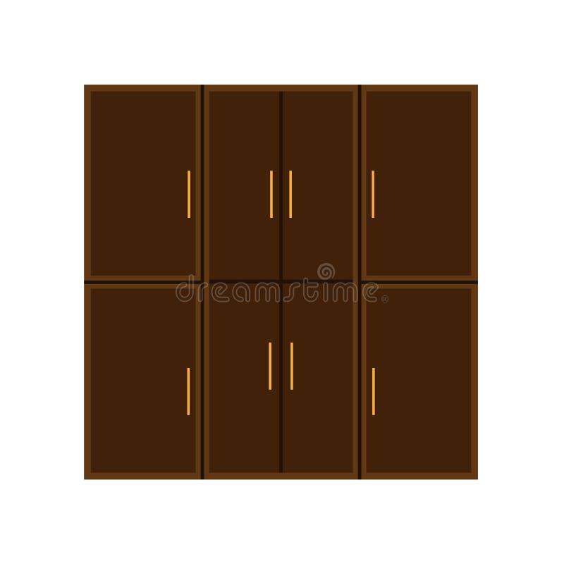 Icono interior aislado gabinete del vector del archivo del almacenamiento del documento del sistema del caj?n de la oficina Muebl libre illustration