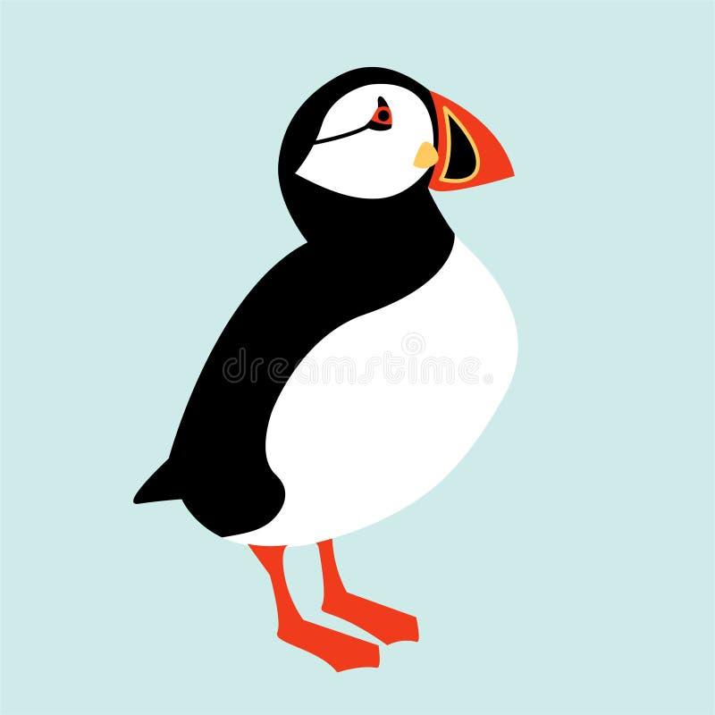 Icono islandés del pájaro del frailecillo ilustración del vector