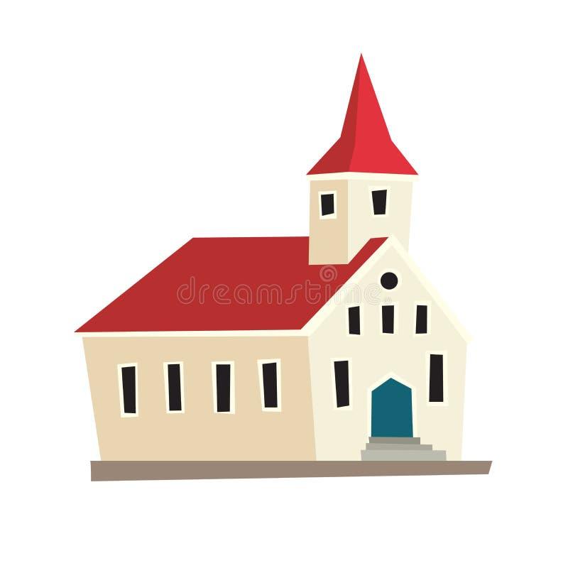 Icono islandés del templo ilustración del vector