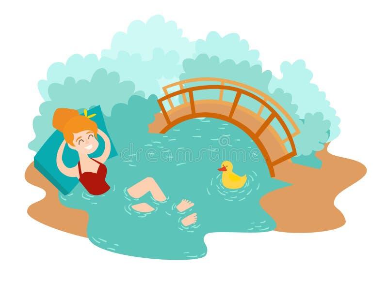 Icono islandés del vector de la señal de la laguna azul ilustración del vector
