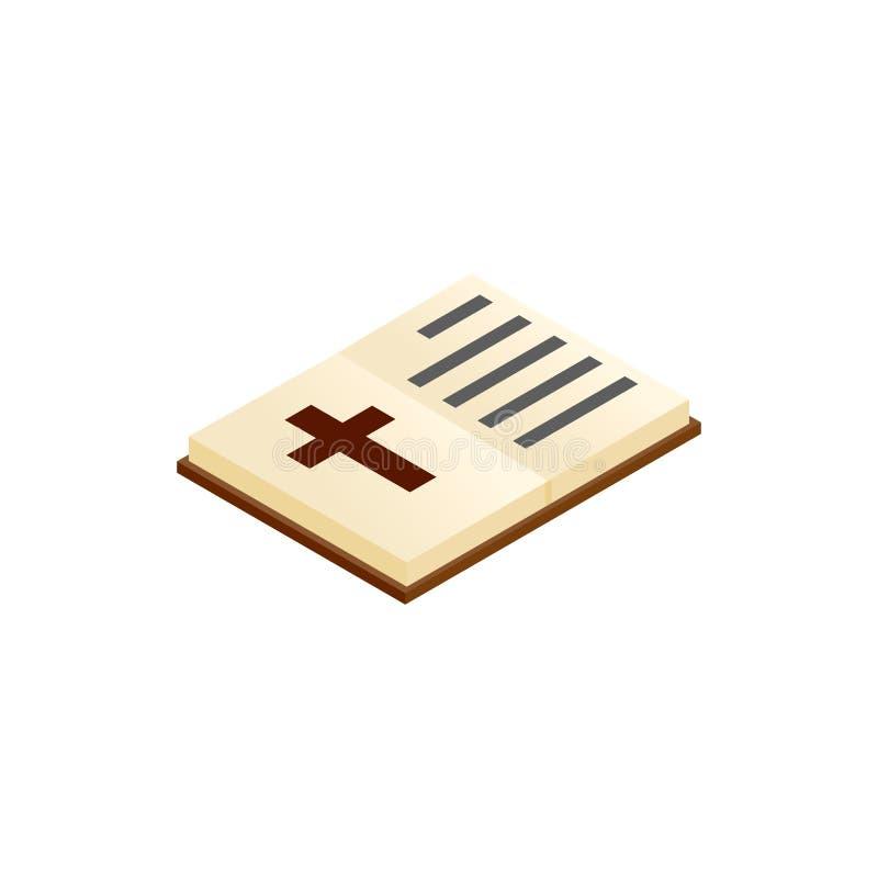 Icono isométrico abierto 3d de la biblia libre illustration