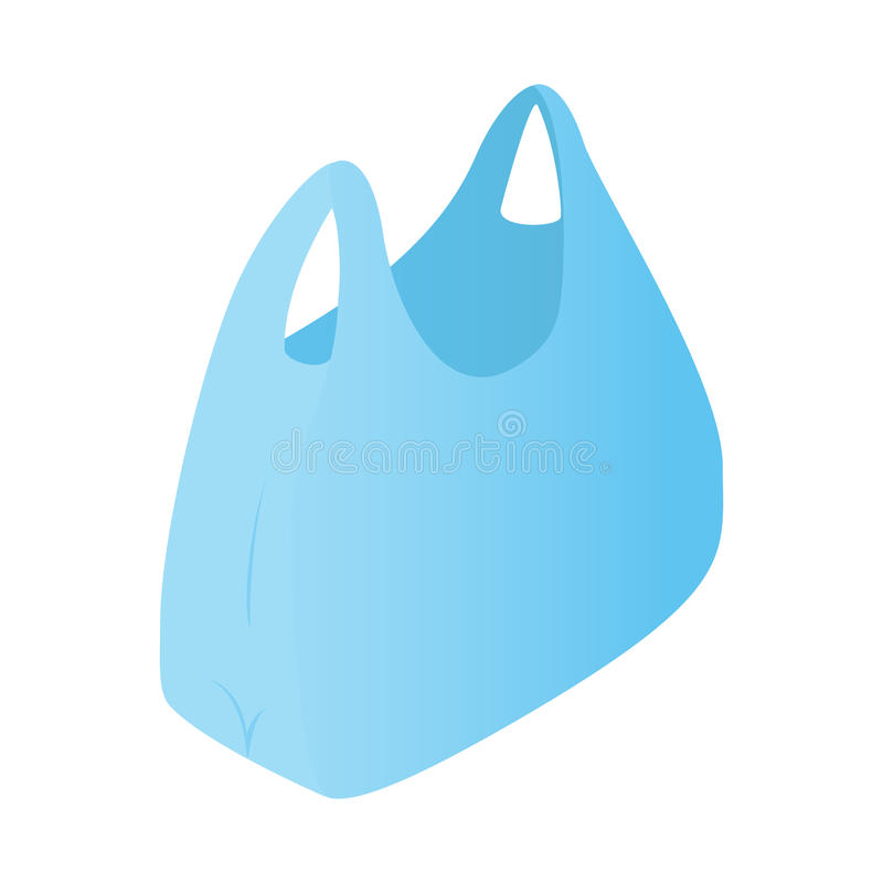 Icono isométrico 3d de la bolsa de plástico ilustración del vector