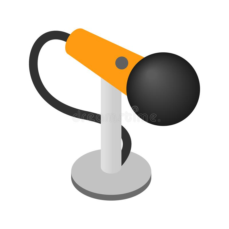 Icono isométrico 3d del micrófono ilustración del vector