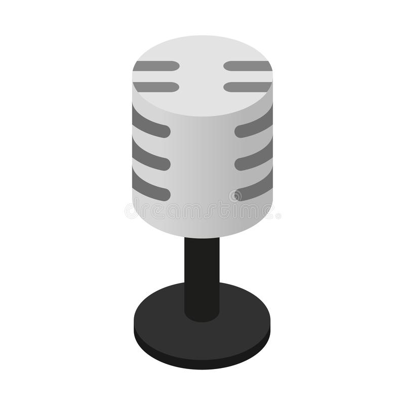 Icono isométrico 3d del micrófono retro libre illustration