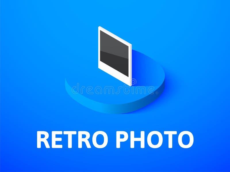 Icono isométrico de la foto retra, aislado en fondo del color libre illustration