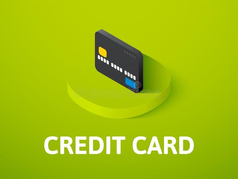 Icono isométrico de la tarjeta de crédito, aislado en fondo del color libre illustration