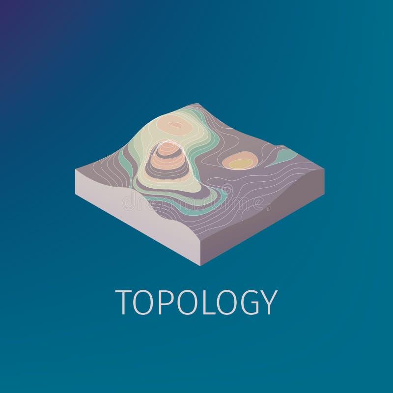 Icono isométrico de la topología del vector ilustración del vector