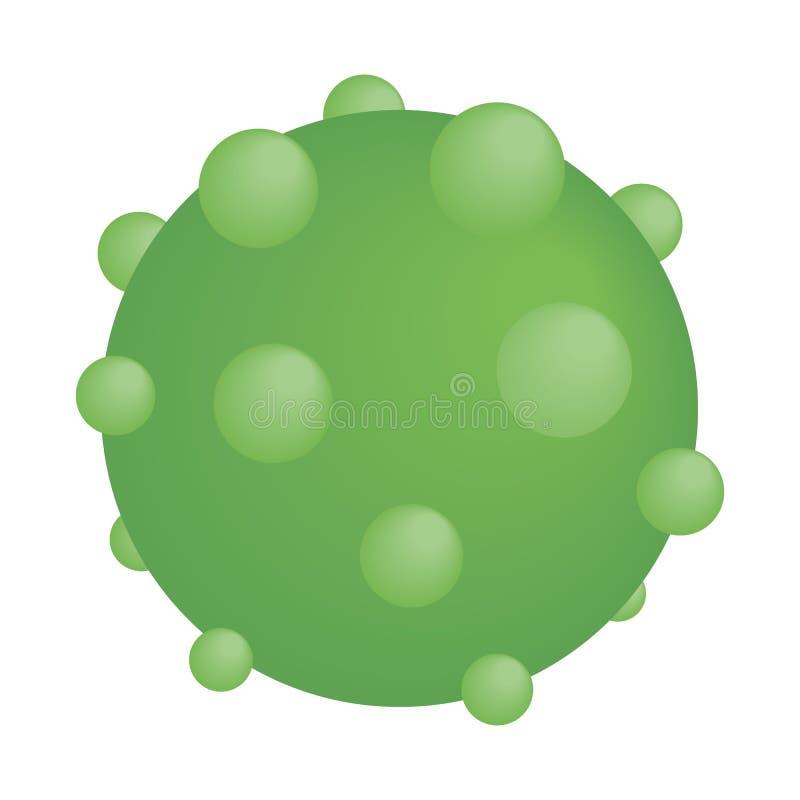 Icono isométrico del virus redondo verde libre illustration