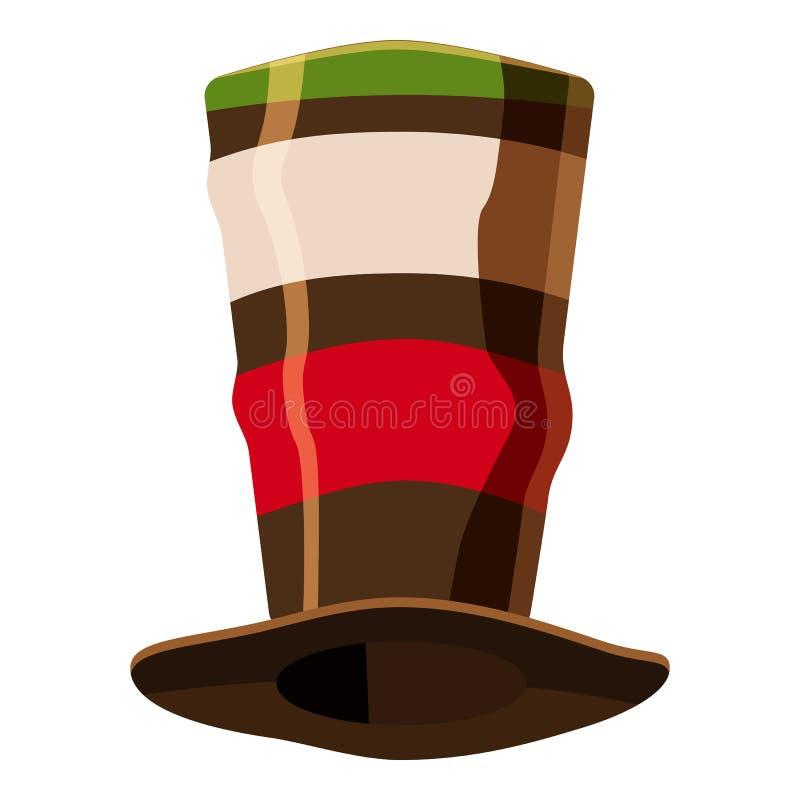 Icono italiano del sombrero del fútbol de la fan, estilo de la historieta libre illustration