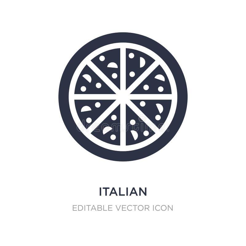 icono italiano en el fondo blanco Ejemplo simple del elemento del concepto de la comida stock de ilustración