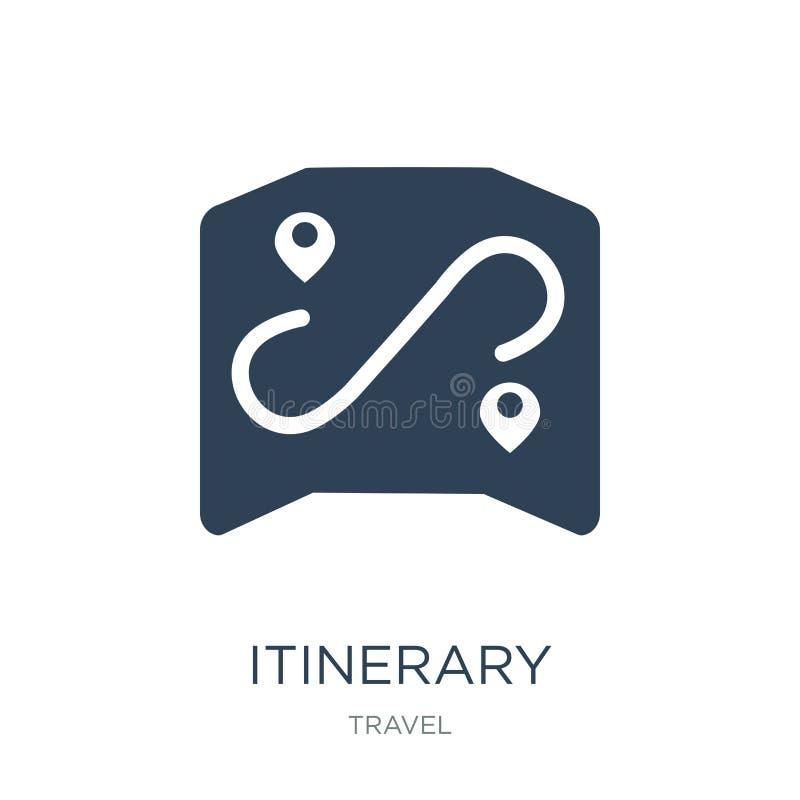 icono itinerario en estilo de moda del diseño icono itinerario aislado en el fondo blanco plano simple y moderno del icono itiner stock de ilustración