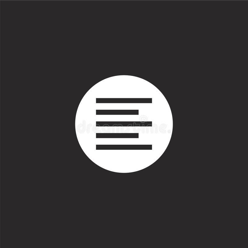 Icono izquierdo de la alineaci?n Icono izquierdo llenado de la alineación para el diseño y el móvil, desarrollo de la página web  ilustración del vector