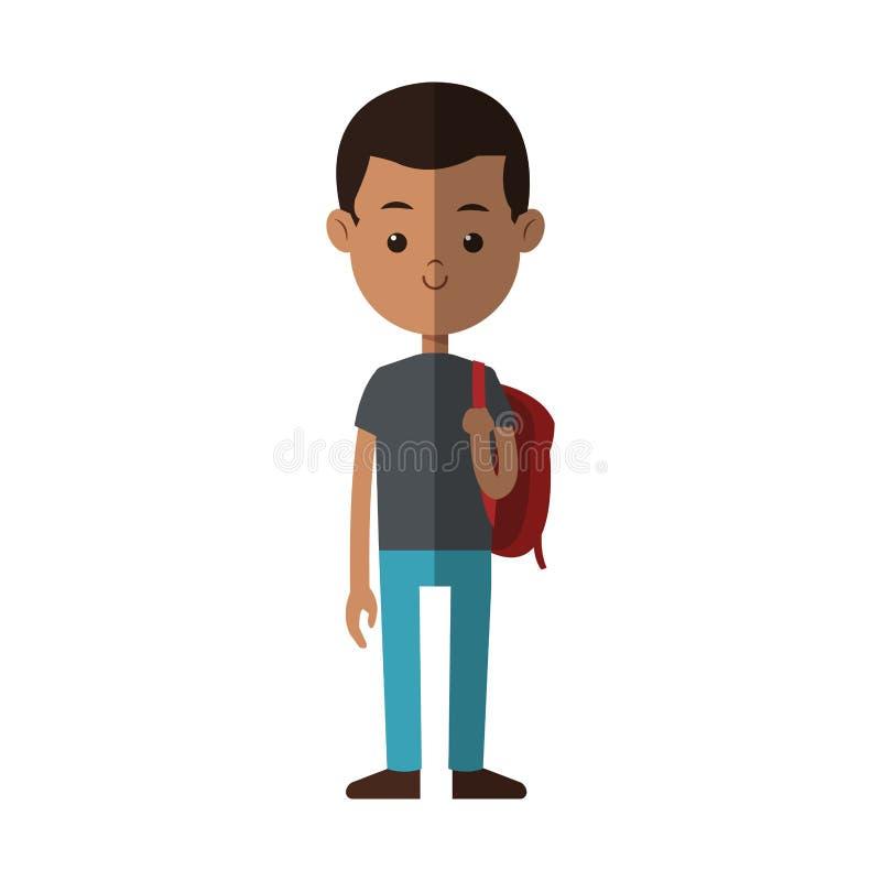 Icono joven de la historieta del muchacho stock de ilustración