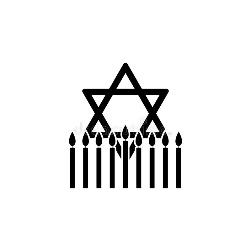 icono judío de Jánuca de la estrella Elemento del icono de Jánuca para los apps móviles del concepto y de la web El icono judío d libre illustration