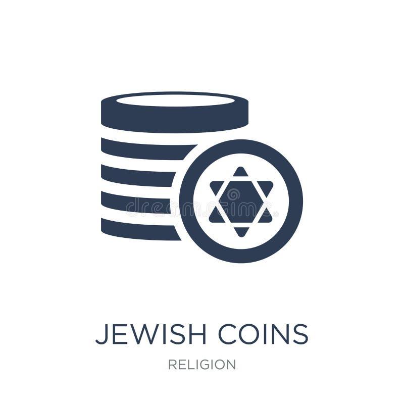 Icono judío de las monedas  stock de ilustración