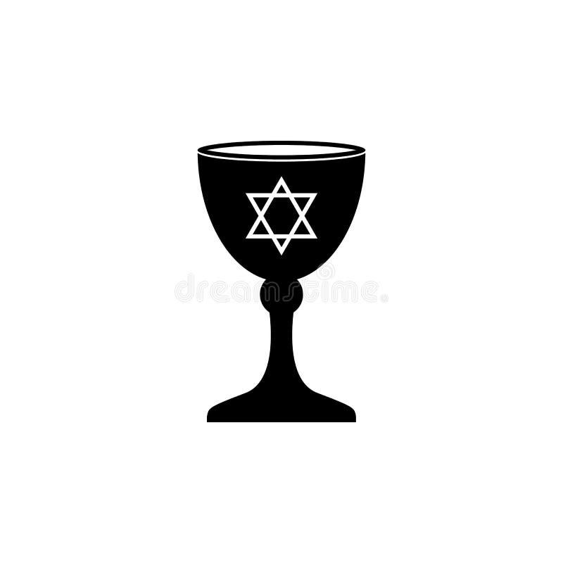 Icono judío del cuenco Elemento del icono religioso de la cultura Icono superior del diseño gráfico de la calidad Muestras, icono stock de ilustración