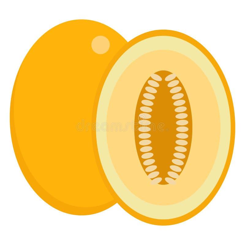 Icono jugoso fresco de la fruta del verano del melón, ejemplo del vector libre illustration