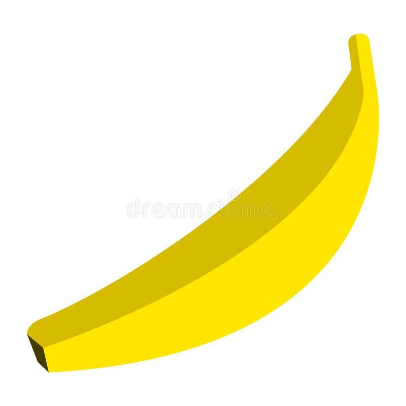 Icono jugoso fresco de la fruta tropical del plátano, ejemplo del vector stock de ilustración
