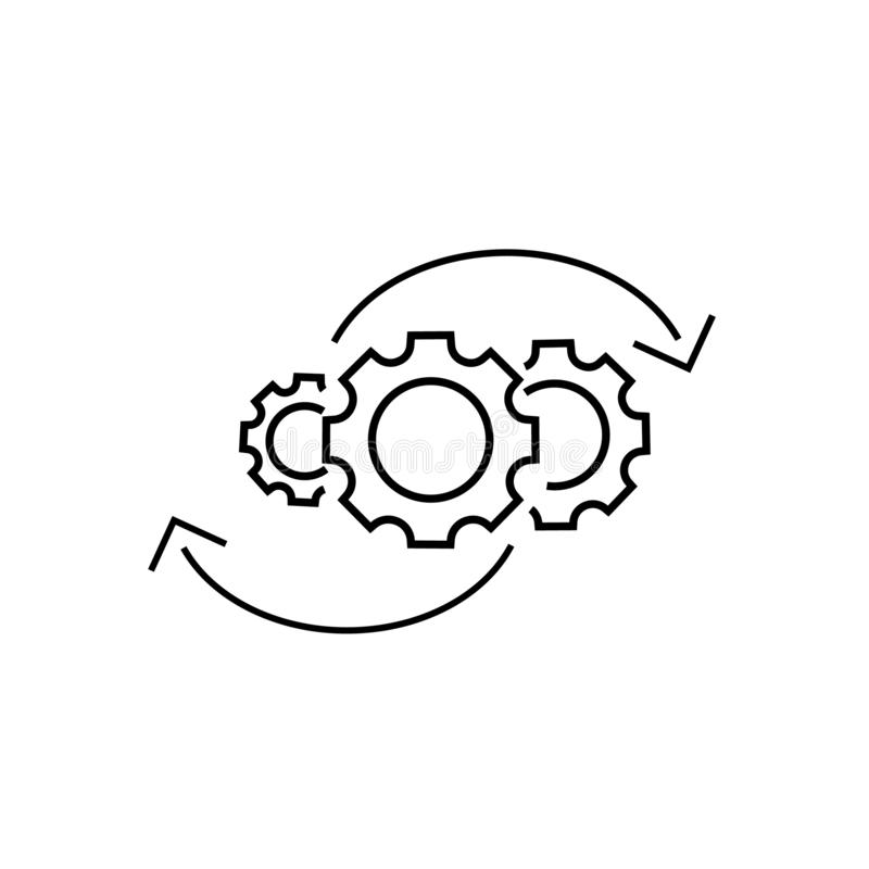 Icono a la derecha del vector de los engranajes libre illustration