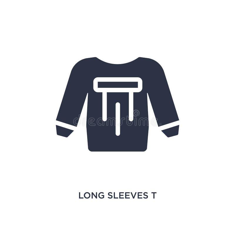 icono largo de la camiseta de las mangas en el fondo blanco Ejemplo simple del elemento del concepto de la ropa ilustración del vector
