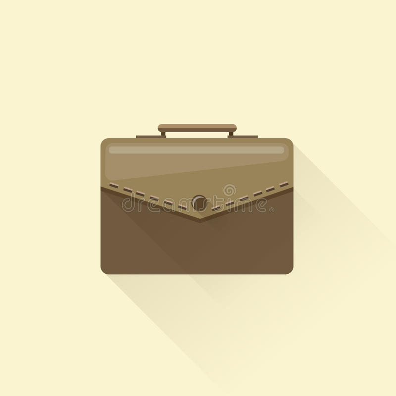 Icono largo plano de la sombra del vector de la cartera foto de archivo libre de regalías
