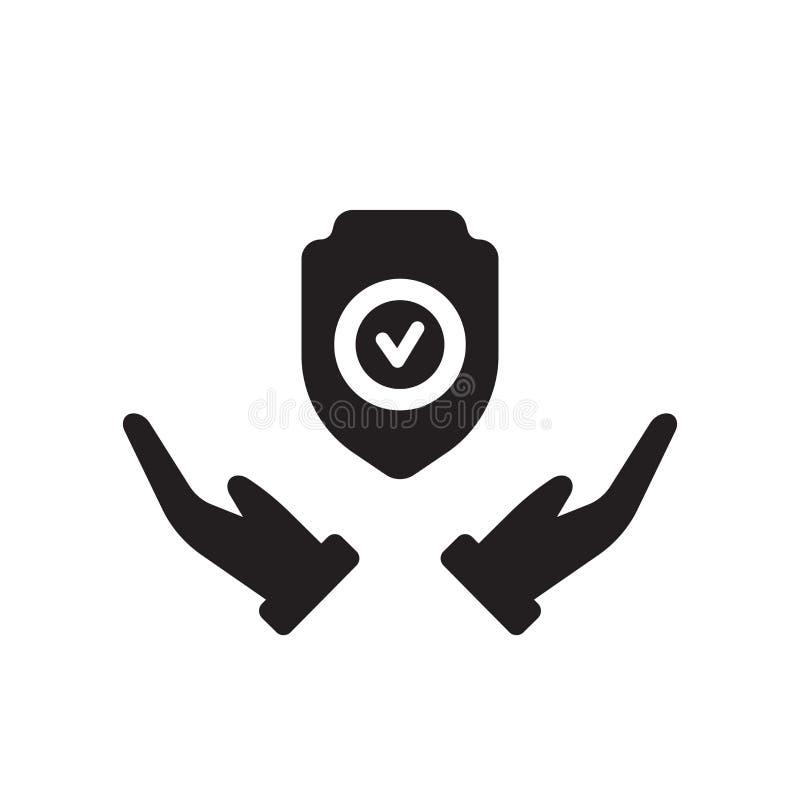icono a largo plazo de la protección Logotipo a largo plazo de moda de la protección concentrado libre illustration