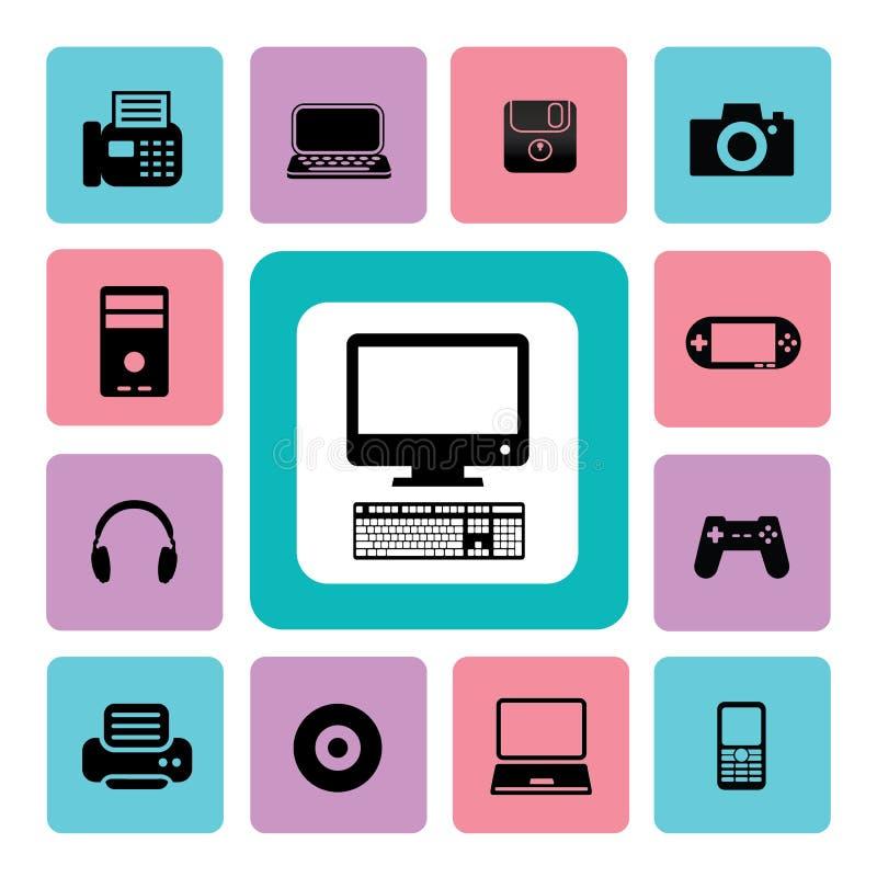 Icono las TIC ilustración del vector