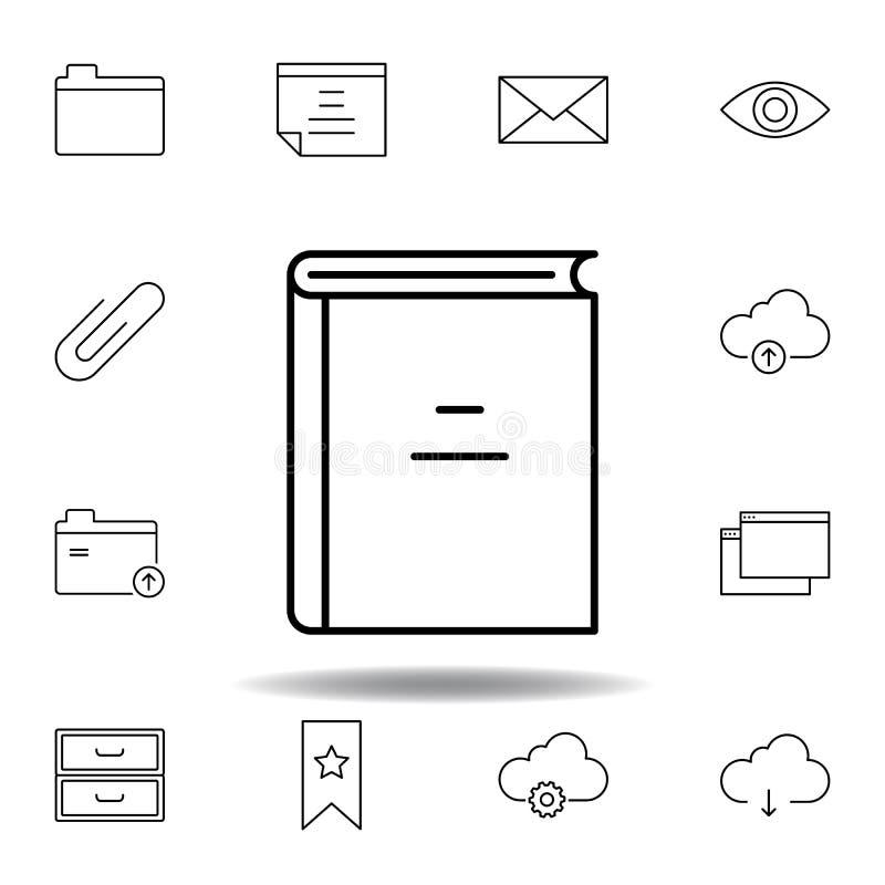 Icono le?do libro del esquema Sistema detallado de iconos de los ejemplos de las multimedias del unigrid Puede ser utilizado para stock de ilustración