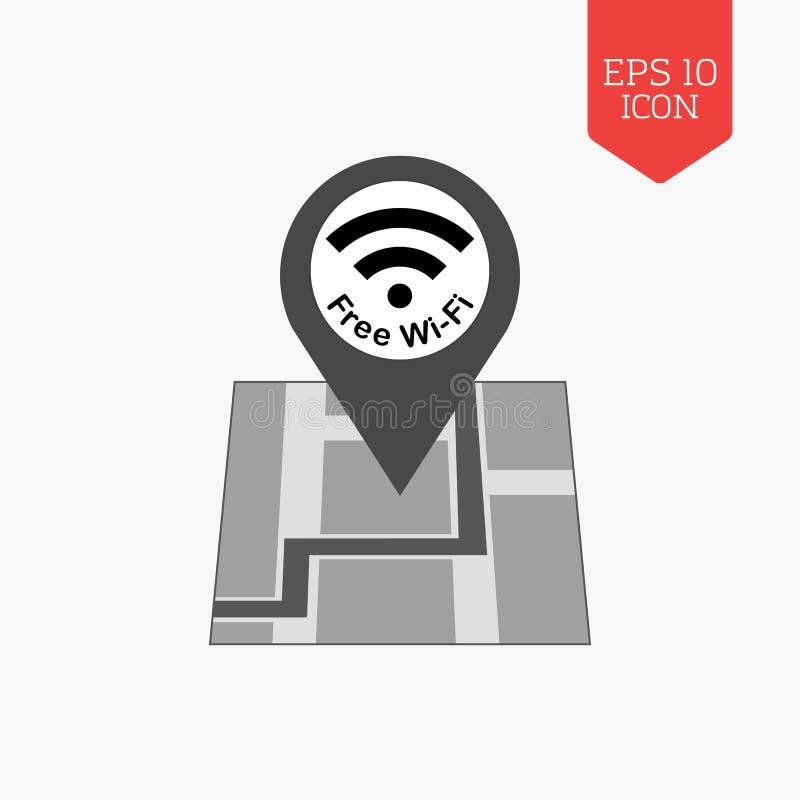 icono libre de la zona del wifi Símbolo gris del color del diseño plano UI moderno nosotros stock de ilustración
