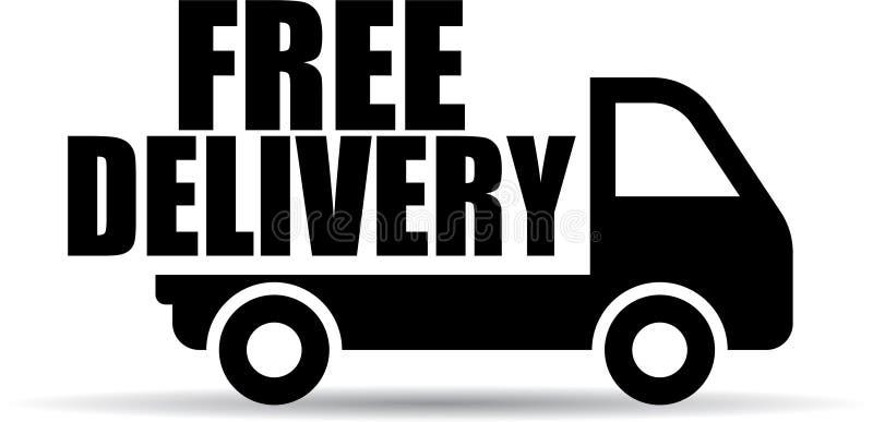 Icono libre del camión de reparto stock de ilustración