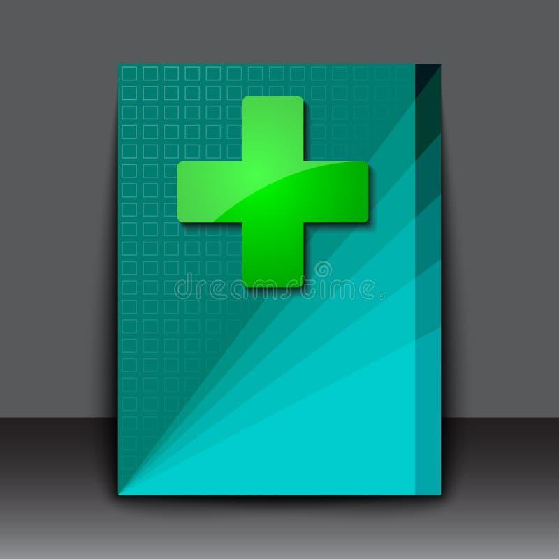 Icono limpio cruzado verde stock de ilustración
