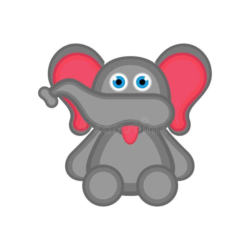 Icono lindo aislado del elefante ilustración del vector